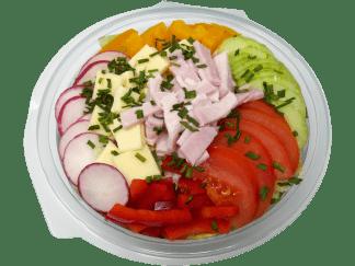 Salatcup mit Kochschinken und Kaese Handke P1310083